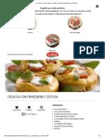 Focaccia Con Pomodorini_ Ricetta Secondo Piatto Sfizioso _ Galbani