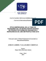 2017 Valladares Etica Empresarial en La Toma de Decisiones