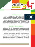 Lesson-05 PRESS Denominationalism