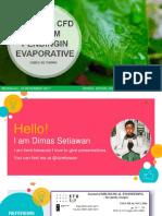 Dimas Setiawan_g1c014024_analisis Cfd Sistem Pendingin Evaporative