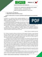 Subiect Si Barem LimbaRomana EtapaI ClasaVII 14-15