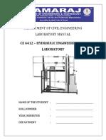 Hydraulics Lab Rubrics
