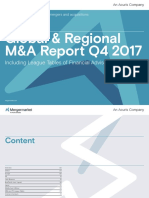 Global and Regional MA Activity During Q1Q4 2017 Including Financial Advisor League Tables