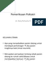 Bimbingan Pemeriksaan Psikiatri