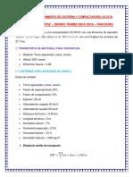 Cálculo de Rendimiento de Cisterna y Compactadora