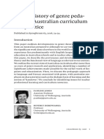 A Brief History of Genre Pedagogy in Australian Curriculum and Practice