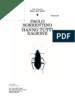 Paolo Sorrentino - Hanno Tutti Ragione