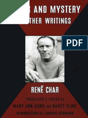 Poetry In Translation René Char Mary Ann Caws Furor