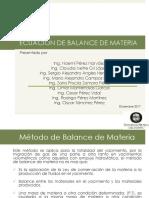 Balance de Materia
