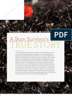 by Shelley McKown...Injury Board 'The Safety Report' Fall 2010 Issue. FINDING CHARLIE MORECRAFT...a burn survivor's true story.