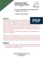 GABARITO E RESOLUÇÕES Do Processo Seletivo 2018.1