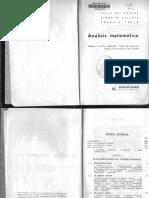 Analisis Matematico (Analisis Algebraico, Teoria de Ecuaciones, Calculo Infinitesimal de Una Variable) - J. Rey Pastor