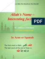 Allah's Name - Interesting Facts