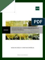 GUÍA II Sociolingüística de la Lengua Española 2012-2013