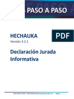 Guia Paso a Paso Hechauka Versión 3.2.1 Declaración Jurada Informativa (1)