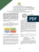 Design of Hexagonal Split Ring Resonator Using HFSS