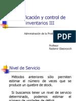 Planificacion y Control de Inventarios III