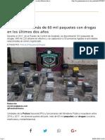 Policía Incauta Más de 60 Mil Paquetes Con Drogas en Los Últimos Dos Años