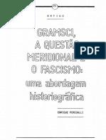 Artigo Garmsci e o Fascimo