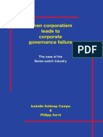 Corporatism Leads to Corp Governance Failure