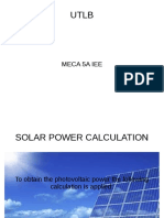 Solar Power Calculation