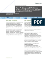 Forrester Wave Enterprise Bi Platforms Report