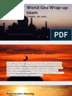 world geo wrap-up  islam 2farabia