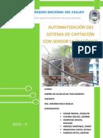 AUTOMATIZACIÓN DEL SISTEMA DE CAPTACIÓN CON SENSORES DE ULTRASONIDO