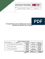 PG-CAL-02 Procedimiento Para La Elaboración de Documentos Del SGC _Rev 3