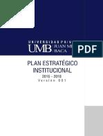 Plan Estrategico Institucional Umb 2016-2018