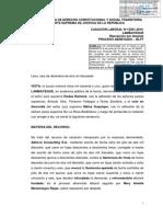 Cas Lab 13061-2016-Lambayeque Negativa Del Trabajador Al Traslado Por Necesidad de La Empresa Justifica El Despido