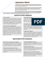 Appeasement Worksheet