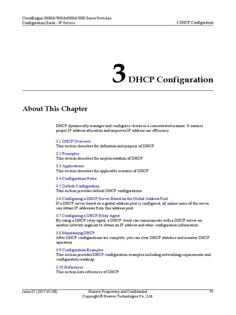 01-03 DHCP Configuration   Ip Address   Network Protocols