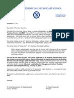 2018 grade 9 retreat information letter for parents