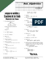 despeje de variables y ecuac. de 1er grado(sin formato elite).doc