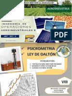 Psicrometria y La Ley de Dalton