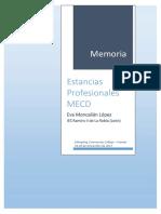 Memoria Estancia Profesional MECD 2017