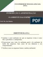 AULA 04 Ambiente Organizacional