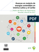 Avances en Materia de Energías Sostenibles en América Latina y El Caribe_Resultados Del Marco 2017
