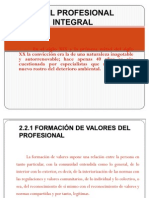 2.2 El Profesional Integral.