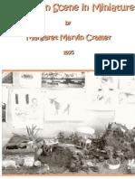 Margaret M Cramer's a Mexican Scene in Miniature 1975