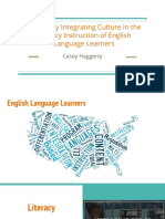 effectively integrating culture in the literacy instruction of english language learners