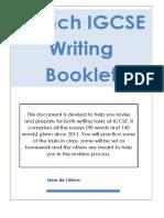 CIE IGCSE Writing Booklet