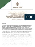 Papa Francesco 20171107 Messaggio Cambiamenti Climatici
