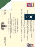 Invitation - Gorham HQ Ceremony