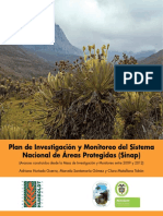 Plna de Investigación y monitoreo del Sistema Nacional de áreas protegidas (Sinap)