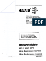 Pfaff 463 463H-Manual Despiece