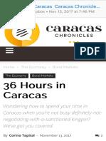 36 Hours in Caracas Caracas Chronicles