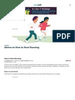 Advice on How to Start Running