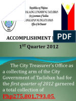 City Treasurers Office Profile